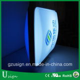 Коробка напольный рекламировать формы вакуума алюминиевой рамки акриловая светлая