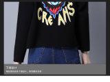 최신 디자인 니트 긴 소매 여자 크리스마스 자카드 직물 스웨터