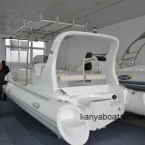 Liya 22ft Luxury Rib Boats Fiberglass Hull Inflatable Boat Sale