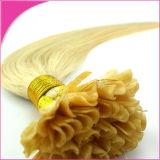 U/Iの先端のケラチンの熱い融合の前担保付きのRemyの人間の毛髪の拡張