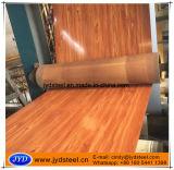 Strato di disegno PPGI del reticolo di legno di quercia in bobina