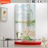 stampa del Silkscreen della vernice di Digitahi di immagine del fumetto di 3-19mm/reticolo acido di sicurezza incissione all'acquaforte temperato/vetro temperato per la stanza da bagno/acquazzone con SGCC/Ce&CCC&ISO