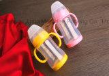 botella que introduce del alto de Borosilicate 180ml bebé del vidrio con la cubierta protectora