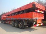 3 осей 50 тонн планшет Semi-Trailer, контейнер Полуприцепе, Fuwa моста