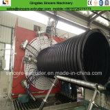 PET-HDPE Entwässerung-gewölbtes gewundene Rohr, das Maschine 2400mm herstellend verdrängt