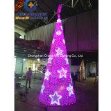 Arbre de Noël de lumière LED de couleur rose pour la décoration de Noël