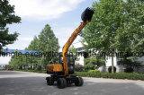 excavador de la construcción de la rueda 7t