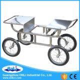 Chariot éléctrique à usage professionnel en coton et en chocolat