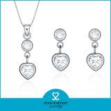 Verdadera CZ joyas de plata para una muestra gratis (J-0028)