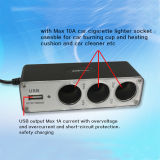 12V/24V Car Power Splitter con il USB Port e Switch inserita/disinserita