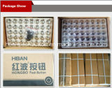 Hban (19mm) CE RoHS momentáneo pulsador resistente al agua de alta