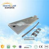 Lumière extérieure de panneau solaire des lumens élevés 80W DEL avec le détecteur (HXXY-ISSL-80)