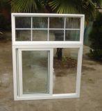 Serie 80 de PVC de color blanco con diseño de parrilla de la ventana deslizante