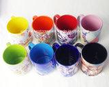 卸し売り11ozの陶磁器の内部及び縁カラーマグ