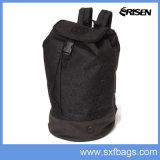 Новый стиль полиэстер черный двойной плечевой студенческих школ рюкзак сумка