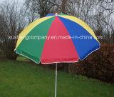 Bevorder de OpenluchtParasol van de Paraplu van de Zon van de Regenboog