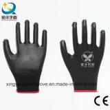 니트릴에 의하여 입히는 노동 방어적인 산업 안전 일 장갑 (N002)