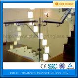 분말 입히는 알루미늄 Frameless 유리제 방책 계단