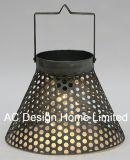 Plaza decorativos clásicos linterna de metal galvanizado con LED Bombilla
