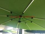 태양 정원 우산 LED 가벼운 우산을%s 가진 옥외 우산 양산