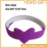 Kundenspezifischer Firmenzeichen-SilikonWristband mit Glühen im Dunklen (YB-SW-38)