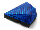 Blue ricaricabile Bike Lamp Rear Light con il laser