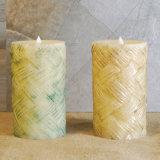 Estacas clásicas elegantes/vela de la vela del jardín del LED que talla/vela con pilas del cumpleaños del parpadeo
