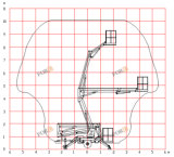 elevación remolcable del auge del acoplado de Manlift del recogedor de la cereza 200kg de los 8m los 26FT para la venta