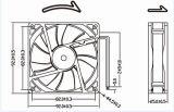 세륨 RoHS 승인 12V 24V 92mm 9225 DC 팬 92X92X25mm