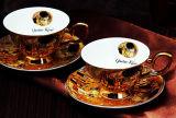 Bella tazza di ceramica di Cina di osso della tazza della porcellana del piattino di Cup& del caffè