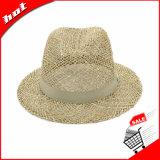 Palha Seagrass Panamá Fedora Chapéu de Palha