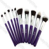 10pcs cosméticos sintético Kabuki cepillo con mango púrpura (HERRAMIENTA-35)