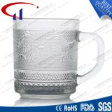 220ml grabó diseño pequeño cristal claro de la taza de té (CHM8172)