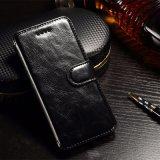 Случай мобильного телефона кожаный с бумажником для модели iPhone