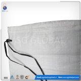 14*26 Tecidos de PP branco saco de areia com cintas