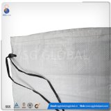 Venda por grosso de 14*26 Tecidos de PP branco saco de areia com cintas