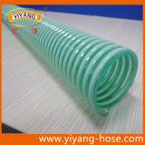 Boyau ondulé d'aspiration de PVC d'espace libre vert