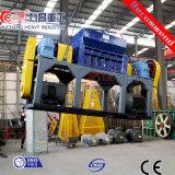 ISOの二重シャフトのシュレッダーのための機械をリサイクルするWeste