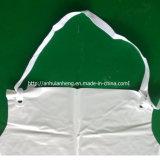 앞치마를 요리하는 싼 처분할 수 있는 백색 플라스틱 PVC