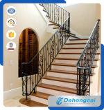 Загородка крытой лестницы стальная/гальванизированная балюстрада Railing лестницы ковки чугуна