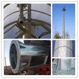 Tubular galvanizado en caliente autosuficiente polo de la antena de telecomunicaciones