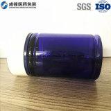 Frascos plásticos da cápsula do produto do frasco plástico azul do animal de estimação (120ml)
