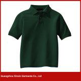 Melhor qualidade 100% algodão Pique camisa branca polo (P71)