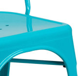 Metal Homcom Silla de acero sillas de comedor antiguo de estilo vintage