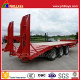 China Equipos Pesados remolque cama baja con dirección hidráulica de los ejes