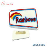 Mccafe Design Promotional Lapel Pin Holder Material de PVC