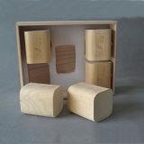 Logotipo personalizado Sqaure madera suave de embalaje Caja de madera de la corteza de abedul