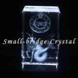 3D cristal grabado con láser Capricornio.