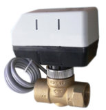 Моторизованный шариковый клапан 2 дорог латунный с более влажными приводами