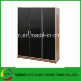 Wardrobe de madeira da melamina da mobília do lustro elevado do quarto